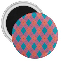Plaid Pattern 3  Magnets by Valentinaart