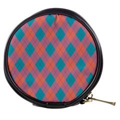 Plaid Pattern Mini Makeup Bags by Valentinaart