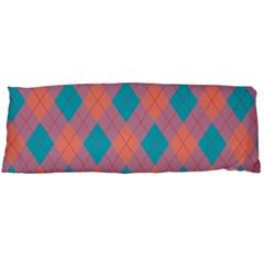Plaid Pattern Body Pillow Case Dakimakura (two Sides) by Valentinaart