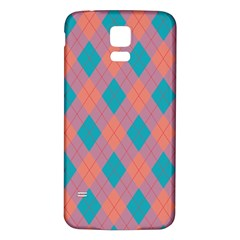 Plaid Pattern Samsung Galaxy S5 Back Case (white) by Valentinaart