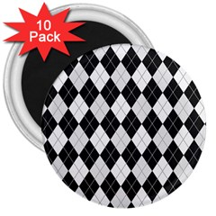 Plaid Pattern 3  Magnets (10 Pack)  by Valentinaart