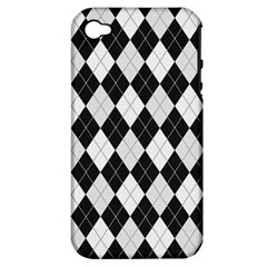 Plaid Pattern Apple Iphone 4/4s Hardshell Case (pc+silicone)