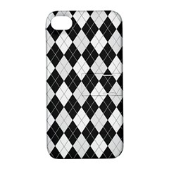 Plaid Pattern Apple Iphone 4/4s Hardshell Case With Stand by Valentinaart