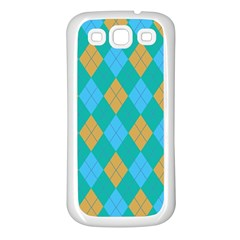 Plaid Pattern Samsung Galaxy S3 Back Case (white) by Valentinaart