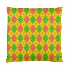 Plaid Pattern Standard Cushion Case (one Side) by Valentinaart