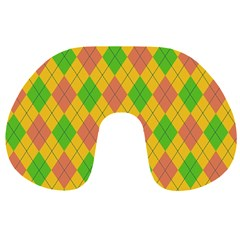 Plaid Pattern Travel Neck Pillows by Valentinaart