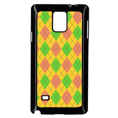 Plaid Pattern Samsung Galaxy Note 4 Case (black) by Valentinaart