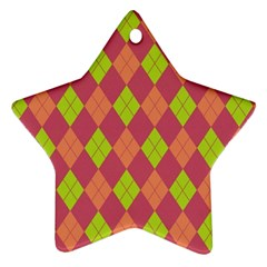Plaid Pattern Star Ornament (two Sides) by Valentinaart