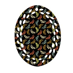 Pattern Oval Filigree Ornament (two Sides) by Valentinaart