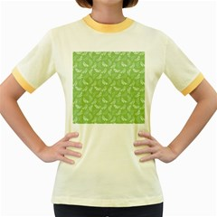 Pattern Women s Fitted Ringer T Shirts by Valentinaart