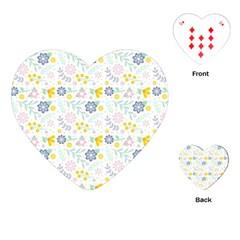 Vintage Spring Flower Pattern  Playing Cards (heart)  by TastefulDesigns