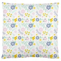 Vintage Spring Flower Pattern  Large Cushion Case (one Side) by TastefulDesigns