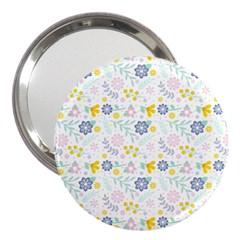 Vintage Spring Flower Pattern  3  Handbag Mirrors by TastefulDesigns