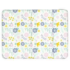 Vintage Spring Flower Pattern  Samsung Galaxy Tab 7  P1000 Flip Case by TastefulDesigns