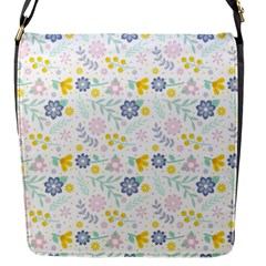 Vintage Spring Flower Pattern  Flap Messenger Bag (s) by TastefulDesigns