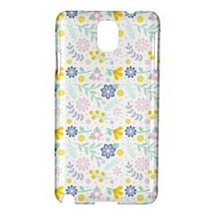 Vintage Spring Flower Pattern  Samsung Galaxy Note 3 N9005 Hardshell Case by TastefulDesigns
