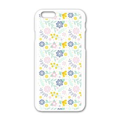 Vintage Spring Flower Pattern  Apple iPhone 6/6S White Enamel Case by TastefulDesigns
