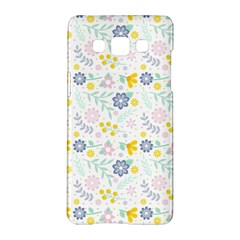 Vintage Spring Flower Pattern  Samsung Galaxy A5 Hardshell Case  by TastefulDesigns