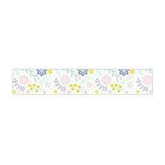 Vintage Spring Flower Pattern  Flano Scarf (mini) by TastefulDesigns