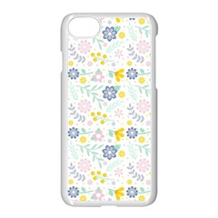 Vintage Spring Flower Pattern  Apple Iphone 7 Seamless Case (white) by TastefulDesigns