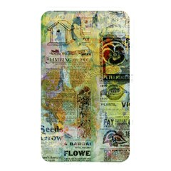 Old Newspaper And Gold Acryl Painting Collage Memory Card Reader by EDDArt