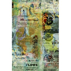 Old Newspaper And Gold Acryl Painting Collage 5 5  X 8 5  Notebooks by EDDArt