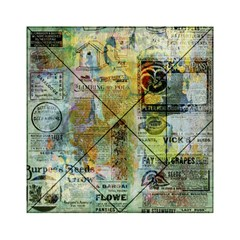 Old Newspaper And Gold Acryl Painting Collage Acrylic Tangram Puzzle (6  X 6 ) by EDDArt