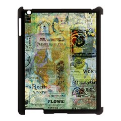 Old Newspaper And Gold Acryl Painting Collage Apple Ipad 3/4 Case (black) by EDDArt