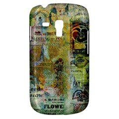 Old Newspaper And Gold Acryl Painting Collage Galaxy S3 Mini by EDDArt
