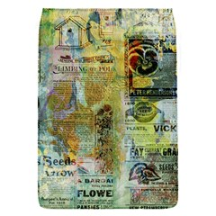 Old Newspaper And Gold Acryl Painting Collage Flap Covers (s)  by EDDArt