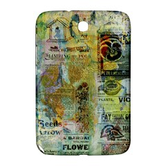 Old Newspaper And Gold Acryl Painting Collage Samsung Galaxy Note 8 0 N5100 Hardshell Case  by EDDArt