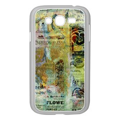 Old Newspaper And Gold Acryl Painting Collage Samsung Galaxy Grand Duos I9082 Case (white) by EDDArt