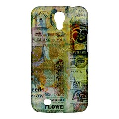 Old Newspaper And Gold Acryl Painting Collage Samsung Galaxy Mega 6 3  I9200 Hardshell Case by EDDArt