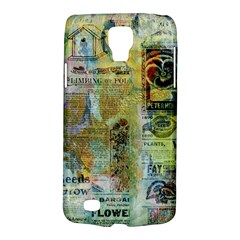 Old Newspaper And Gold Acryl Painting Collage Galaxy S4 Active by EDDArt
