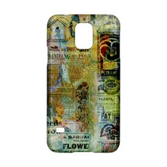 Old Newspaper And Gold Acryl Painting Collage Samsung Galaxy S5 Hardshell Case  by EDDArt