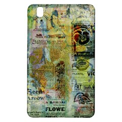 Old Newspaper And Gold Acryl Painting Collage Samsung Galaxy Tab Pro 8 4 Hardshell Case by EDDArt