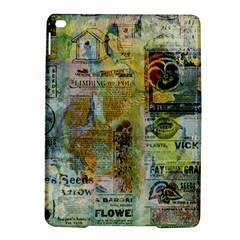 Old Newspaper And Gold Acryl Painting Collage Ipad Air 2 Hardshell Cases by EDDArt