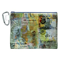 Old Newspaper And Gold Acryl Painting Collage Canvas Cosmetic Bag (xxl) by EDDArt