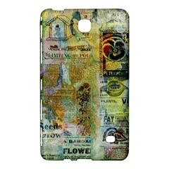 Old Newspaper And Gold Acryl Painting Collage Samsung Galaxy Tab 4 (7 ) Hardshell Case  by EDDArt