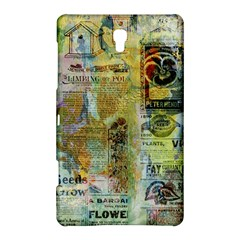 Old Newspaper And Gold Acryl Painting Collage Samsung Galaxy Tab S (8 4 ) Hardshell Case  by EDDArt