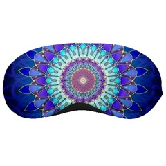 Power Flower Mandala   Blue Cyan Violet Sleeping Masks by EDDArt