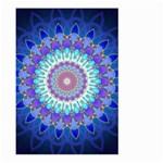 Power Flower Mandala   Blue Cyan Violet Large Garden Flag (Two Sides) Back