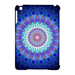 Power Flower Mandala   Blue Cyan Violet Apple Ipad Mini Hardshell Case (compatible With Smart Cover) by EDDArt