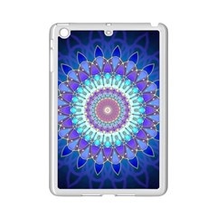 Power Flower Mandala   Blue Cyan Violet Ipad Mini 2 Enamel Coated Cases by EDDArt