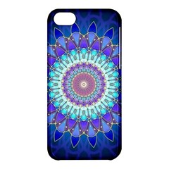 Power Flower Mandala   Blue Cyan Violet Apple Iphone 5c Hardshell Case by EDDArt