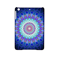 Power Flower Mandala   Blue Cyan Violet Ipad Mini 2 Hardshell Cases by EDDArt