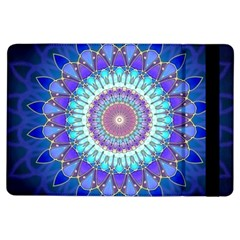 Power Flower Mandala   Blue Cyan Violet Ipad Air Flip by EDDArt