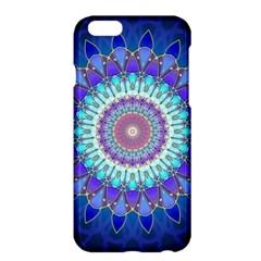 Power Flower Mandala   Blue Cyan Violet Apple Iphone 6 Plus/6s Plus Hardshell Case by EDDArt