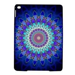 Power Flower Mandala   Blue Cyan Violet Ipad Air 2 Hardshell Cases by EDDArt