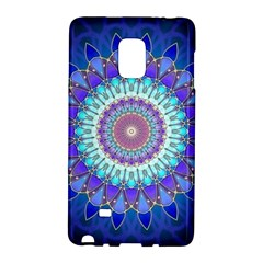 Power Flower Mandala   Blue Cyan Violet Galaxy Note Edge by EDDArt